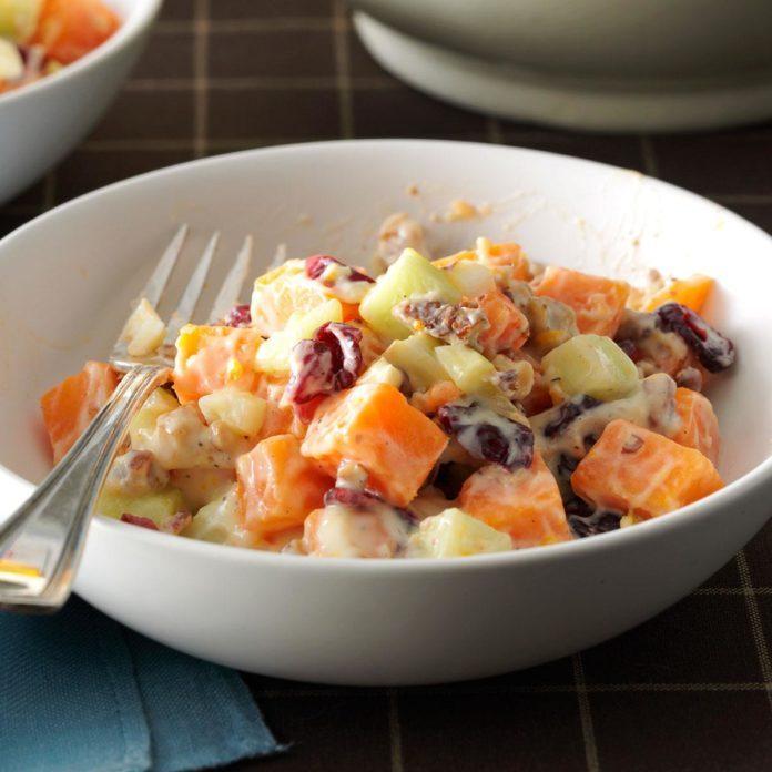Sweet Potato Salad with Orange Dressing