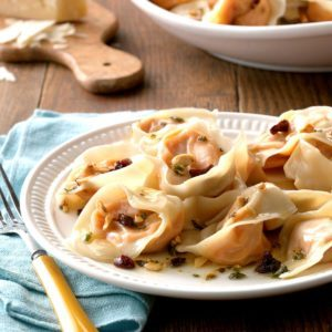 Sweet Potato Tortellini with Hazelnut Sauce