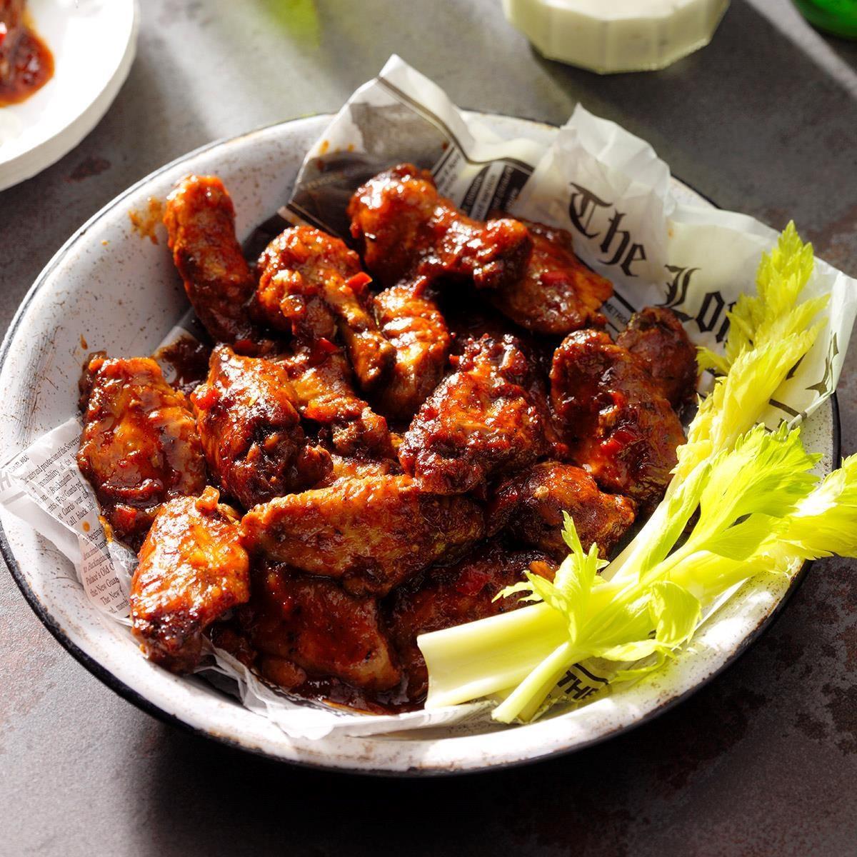 Sweet & Spicy Chicken Wings Recipe