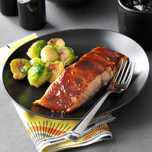 Sweet & Spicy Glazed Salmon