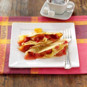 Sweet-Tart Rhubarb Crepes