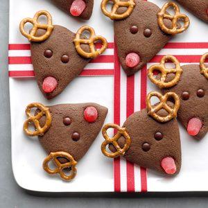 Sweet and Salty Chocolate Reindeer