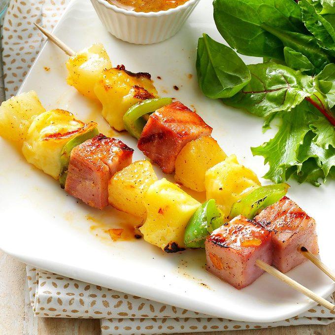 Swiss Ham Kabobs