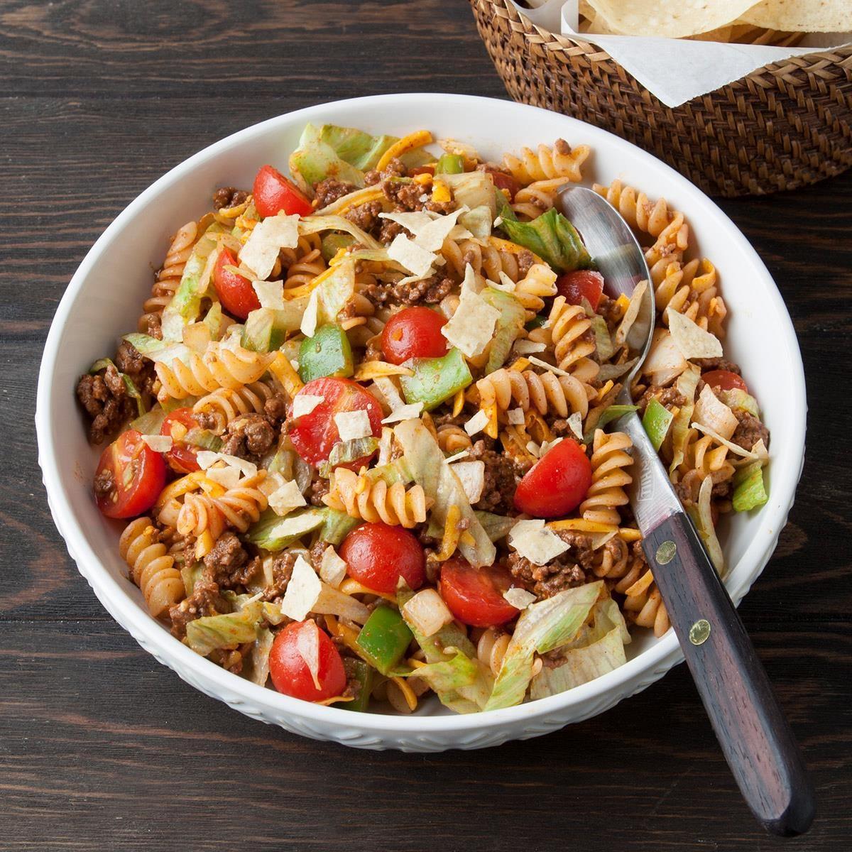Taco Pasta Salad Recipe Taste Of Home