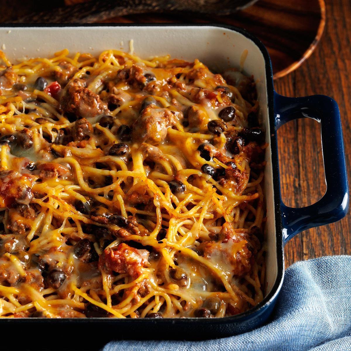 Taco Spaghetti Recipe How To Make It Taste Of Home