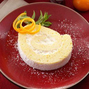 Tangerine Cream Roulade