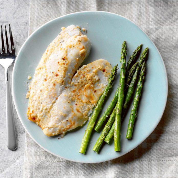 Friday's Dinner: Tangy Parmesan Tilapia
