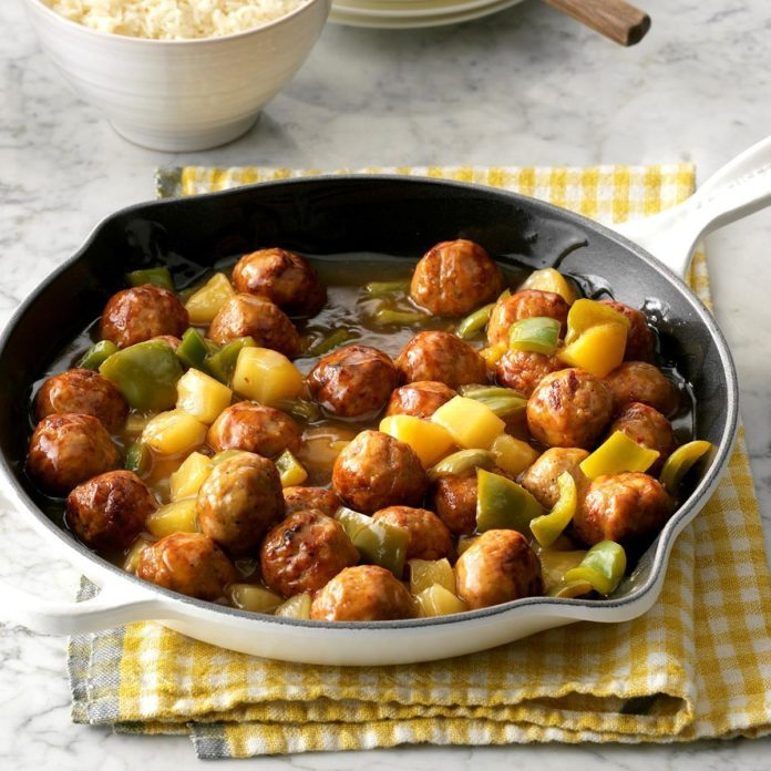 January: Tangy Sweet-and-Sour Meatballs