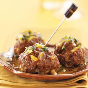 Tapas Meatballs with Orange Glaze