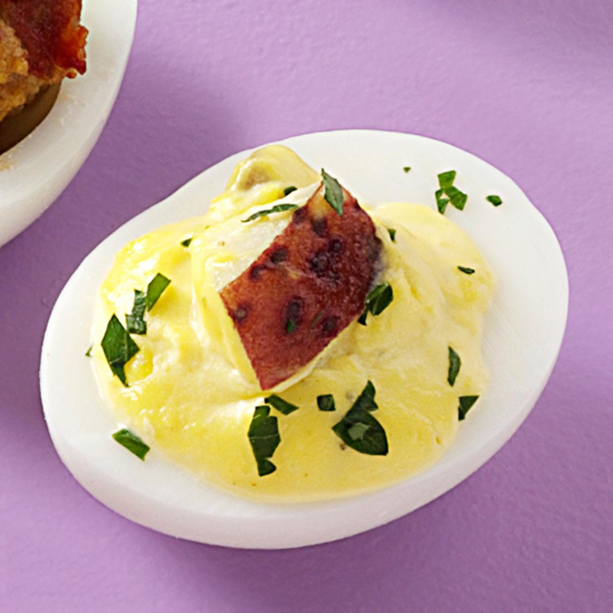Tater Salad Deviled Eggs