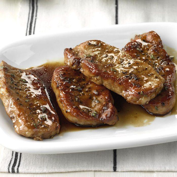 Tender Maple-Glazed Pork Chops