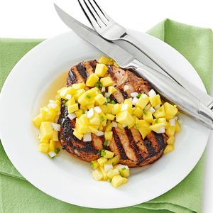 Tender Pork Chops with Mango Salsa