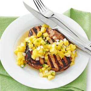 Tender Pork Chops with Mango Salsa