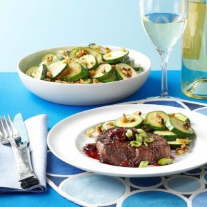 Tenderloin Steaks with Cherry Sauce