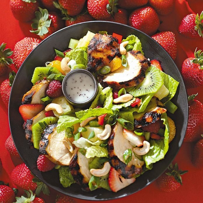 Teriyaki Chicken Salad with Poppy Seed Dressing