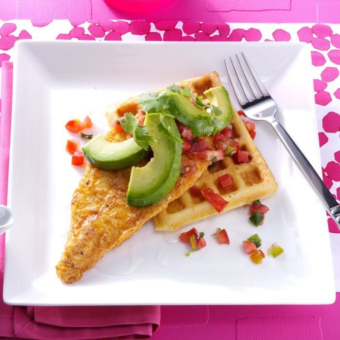 Tex-Mex Chicken and Waffles