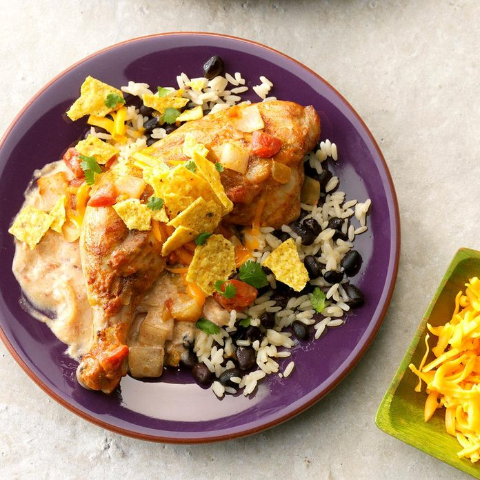 Tex-Mex Chicken with Black Beans & Rice