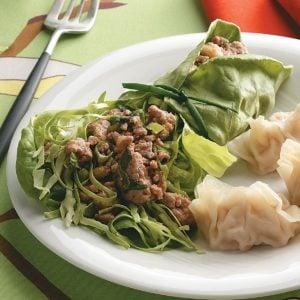 Thai Pork Salad Wraps