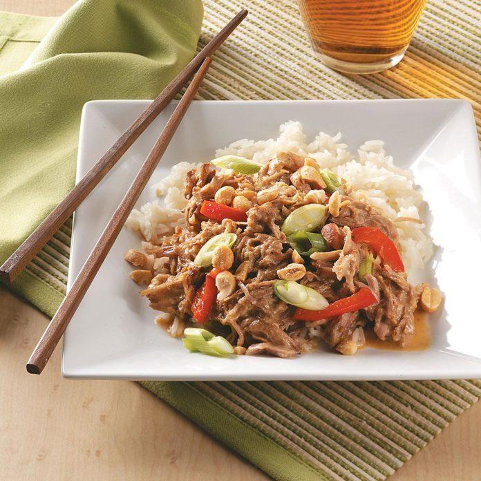 Thai-Style Peanut Pork