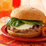 Three-Cheese Florentine Burgers