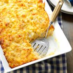 Three-Cheese Hash Brown Bake