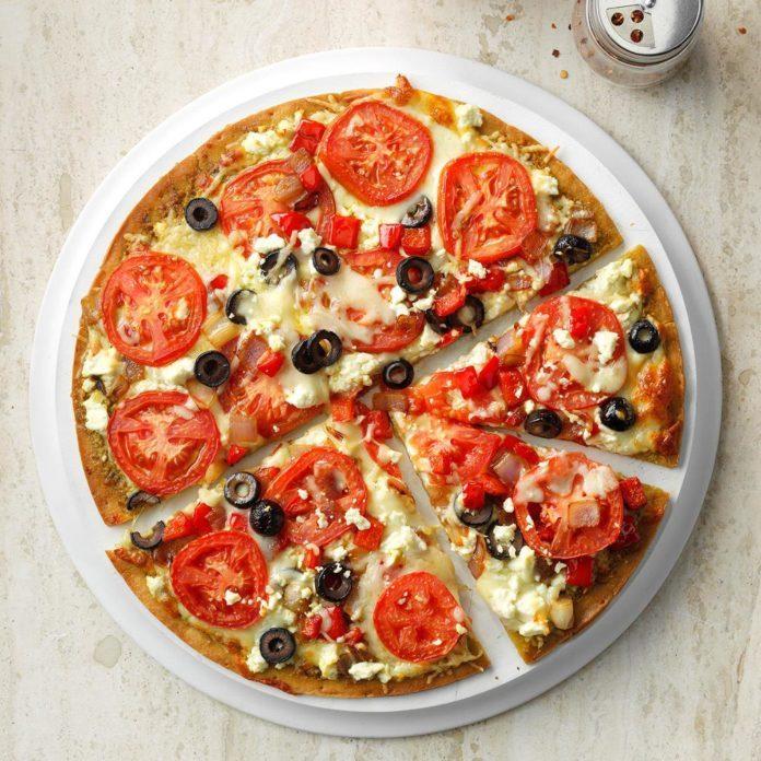 Three-Cheese Pesto Pizza