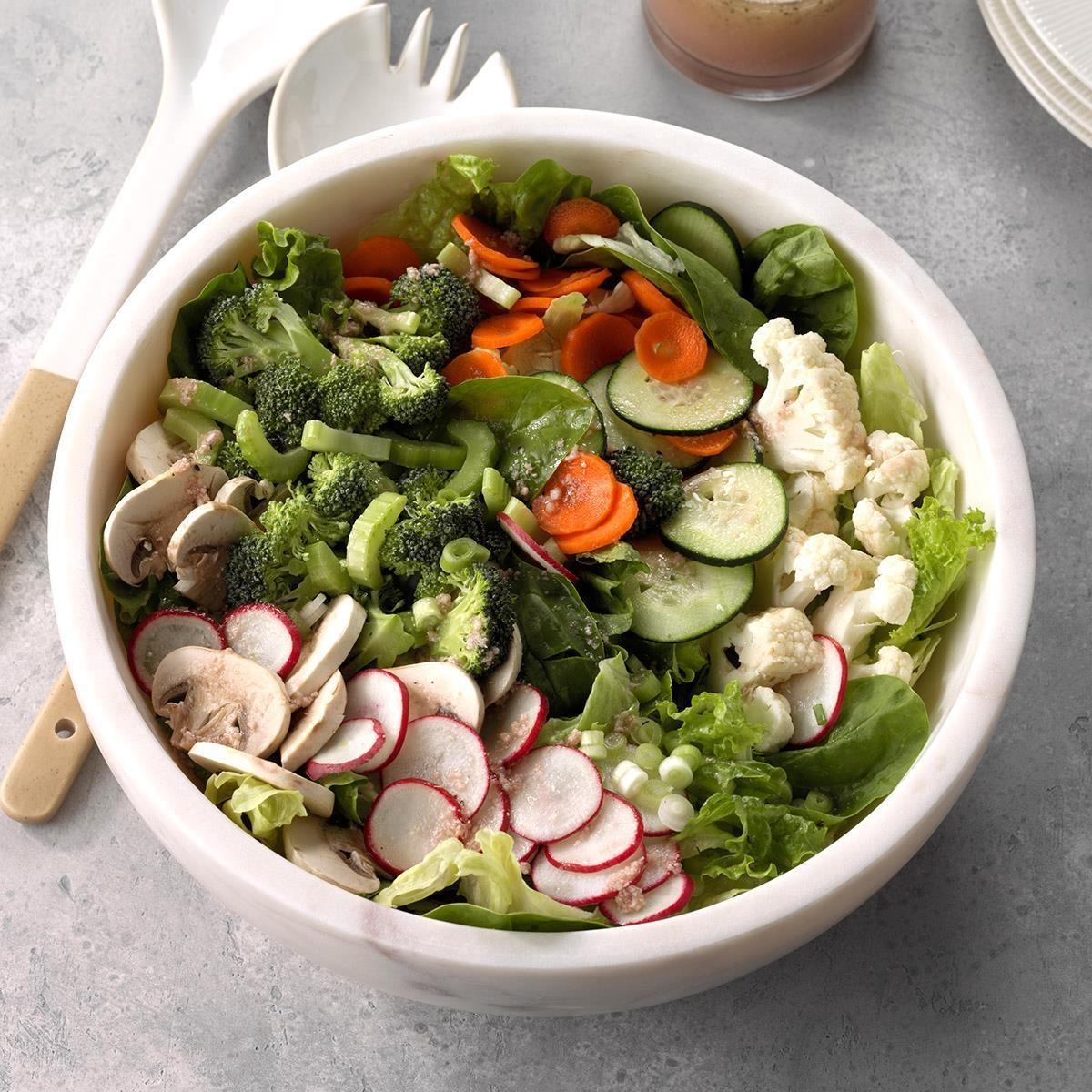 Three-Green Salad Recipe