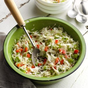 Three-Pepper Coleslaw