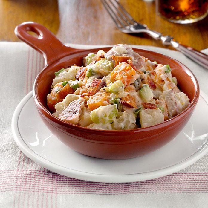 Three Potato and Onion Salad