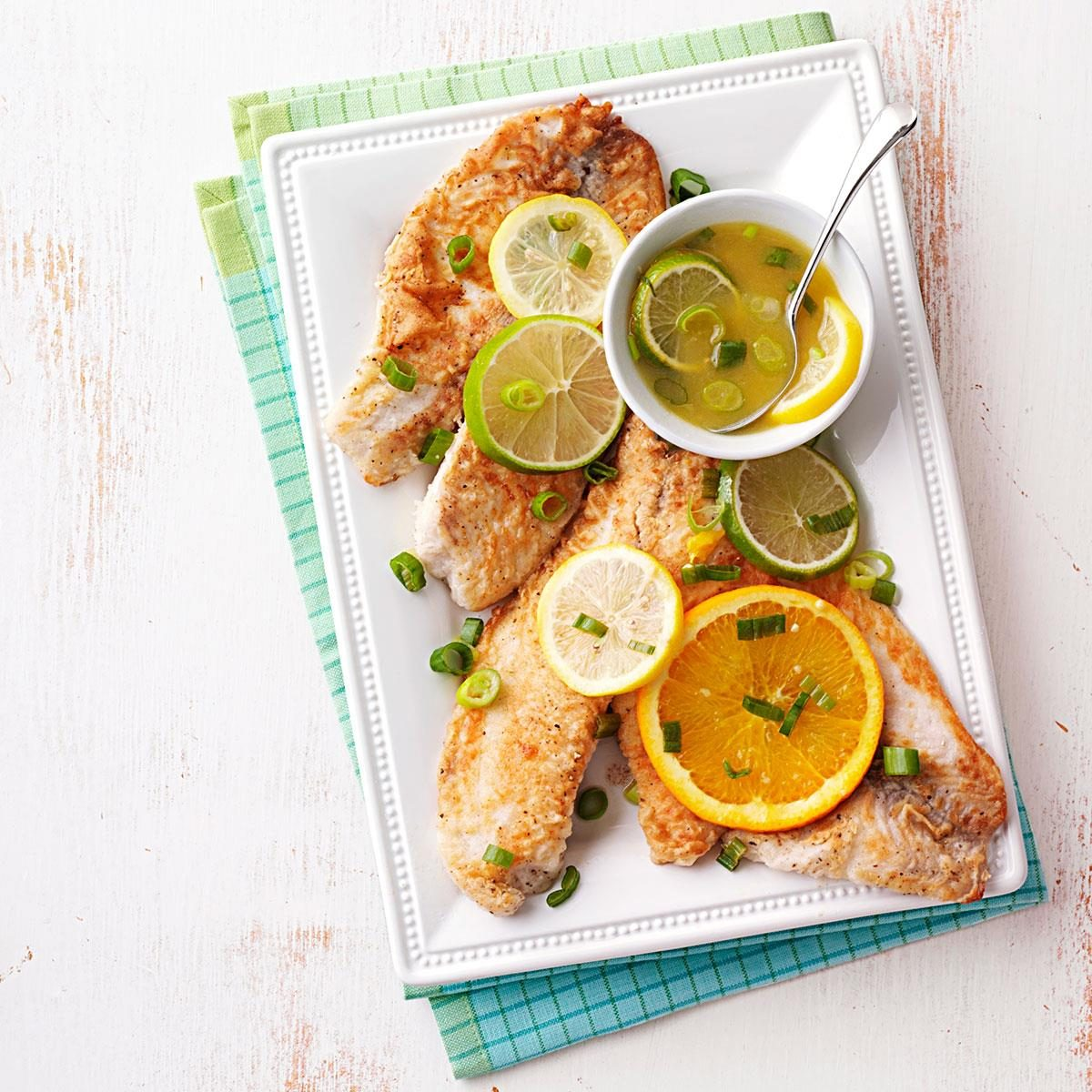 Day 27: Tilapia with Citrus Sauce