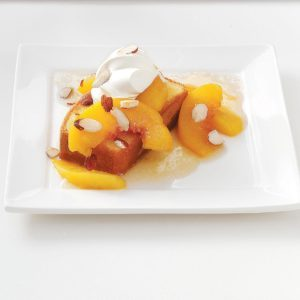 Tipsy Roasted Peaches