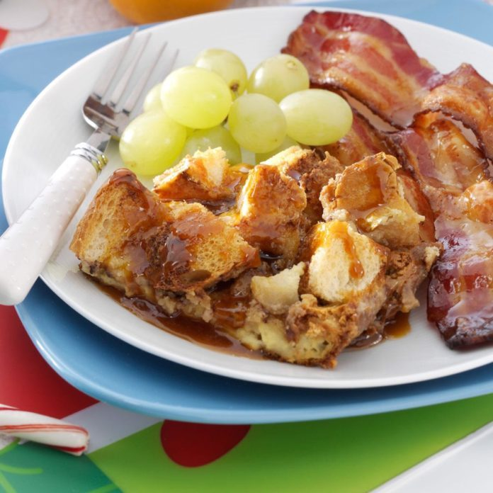 Toffee Apple French Toast with Caramel Syrup