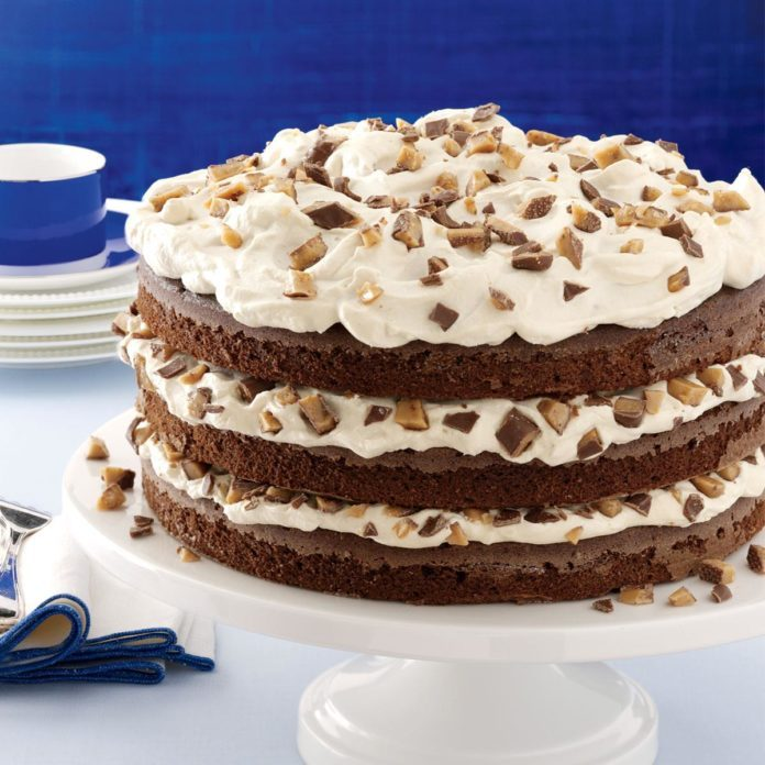 Toffee-Mocha Cream Torte
