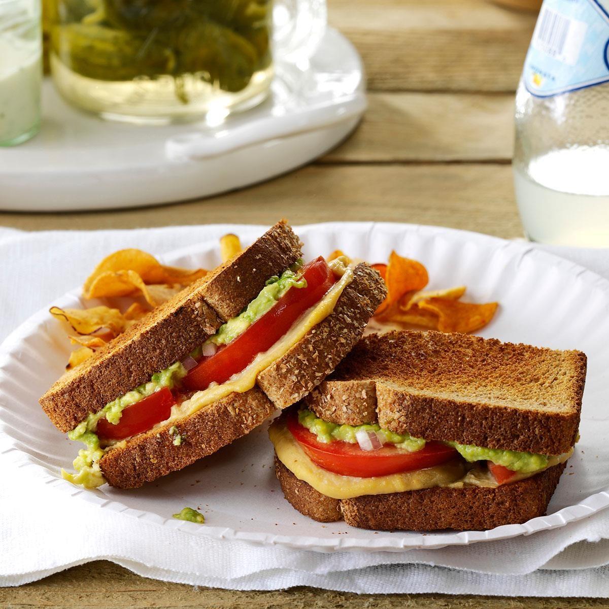 High School Age: Tomato & Avocado Sandwiches
