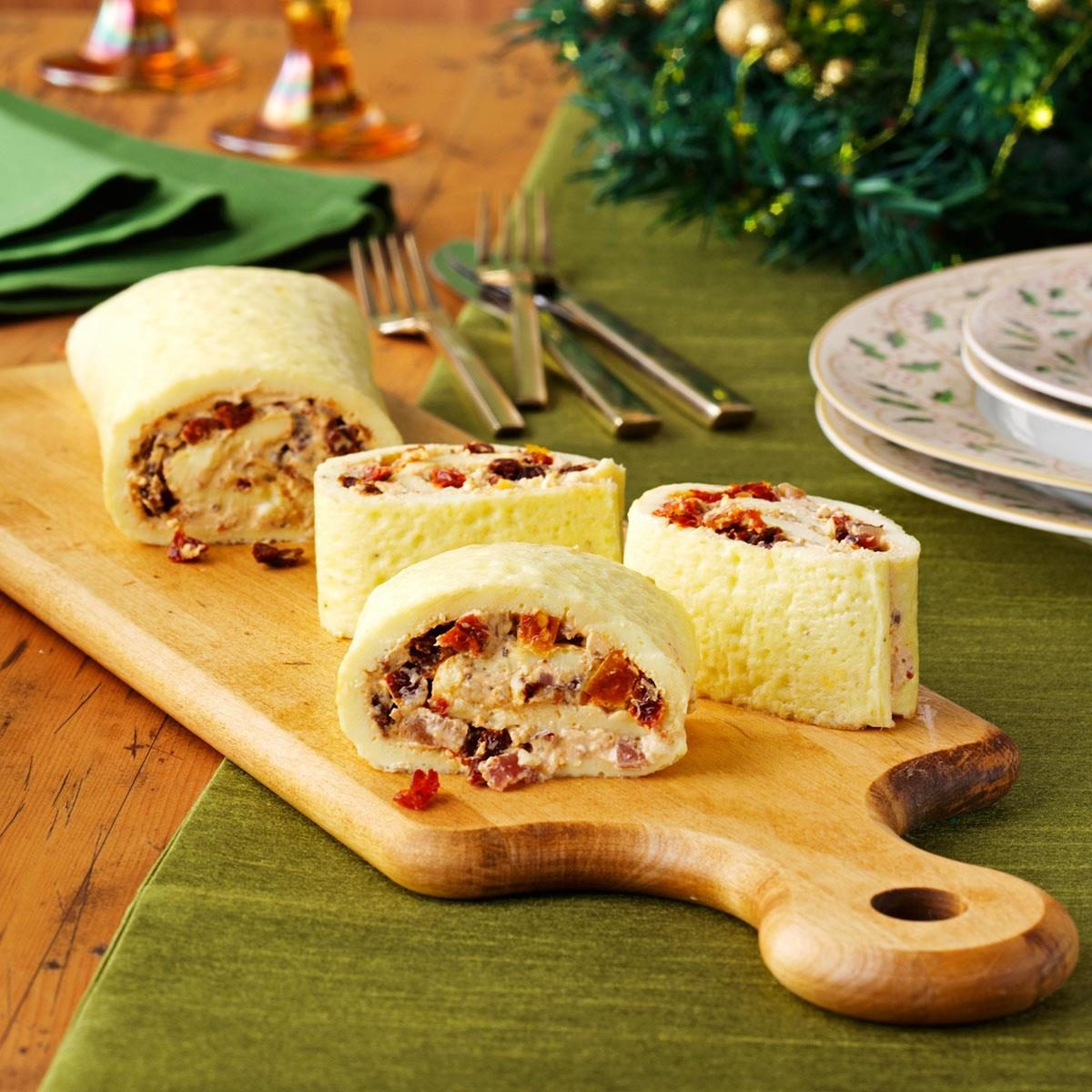 Tomato & Bacon Brunch Roulade