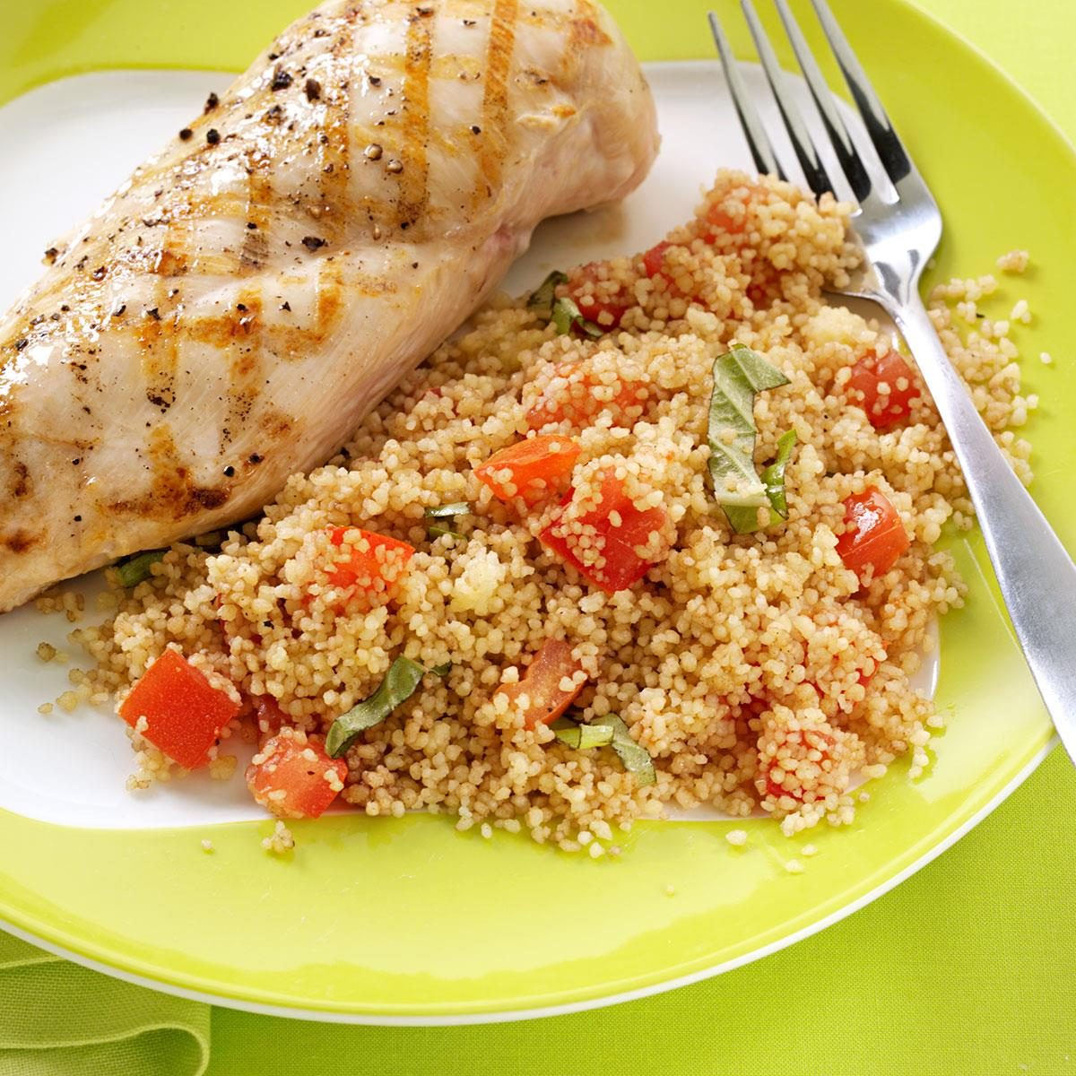 Tomato and Basil Couscous Salad Recipe | Taste of Home