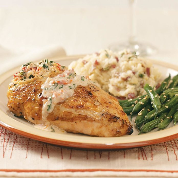 Tomato-Cream Stuffed Chicken