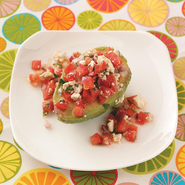 Tomato Salad-Stuffed Avocados