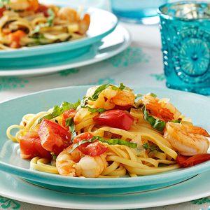 Tomato Shrimp Fettuccine