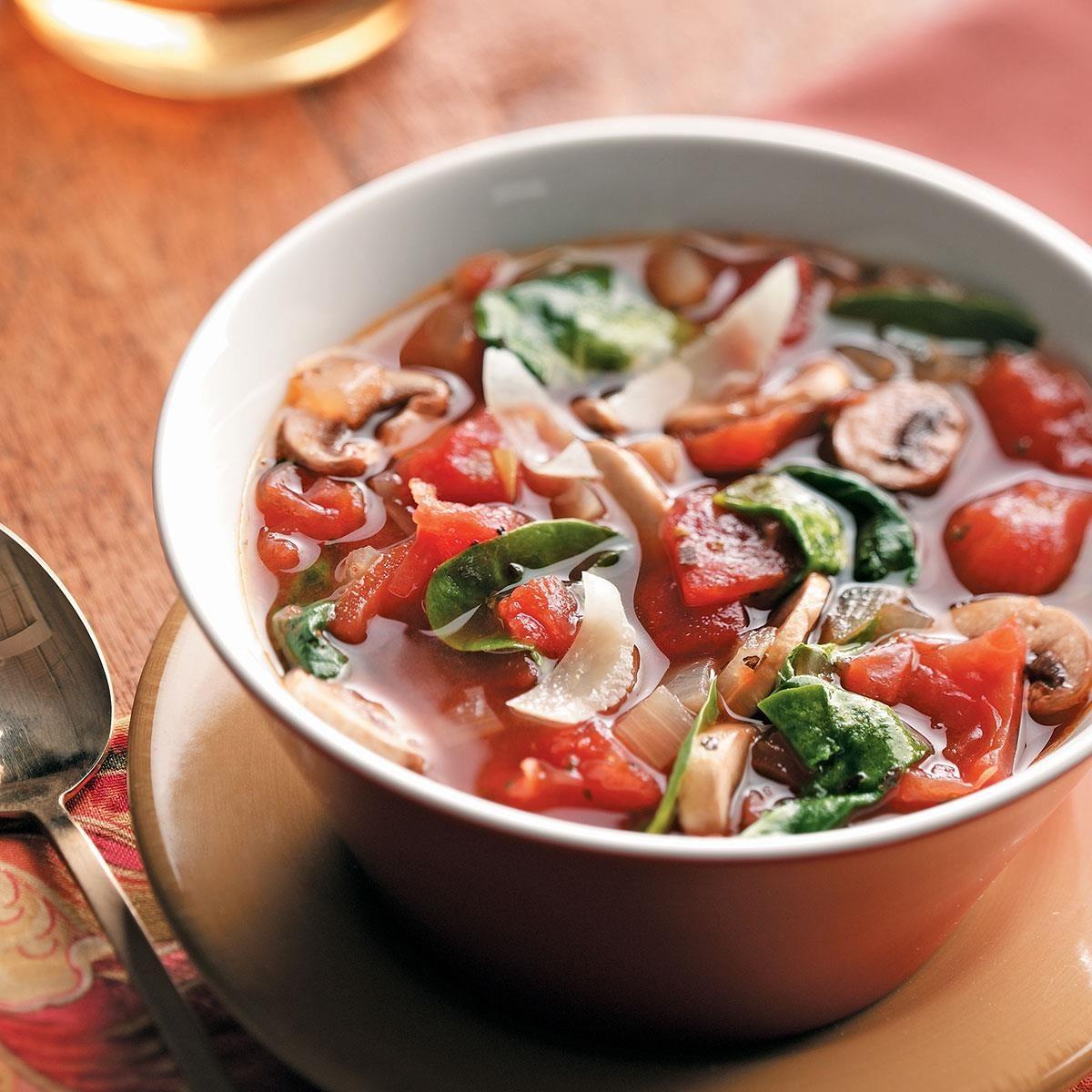Tomato Spinach Soup
