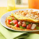 Tomato and Green Pepper Omelet
