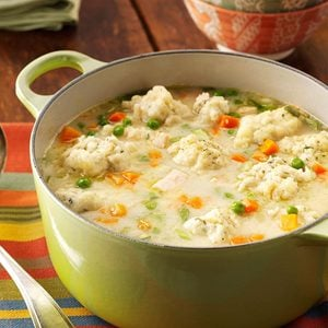 Traditional Chicken Dumpling Soup