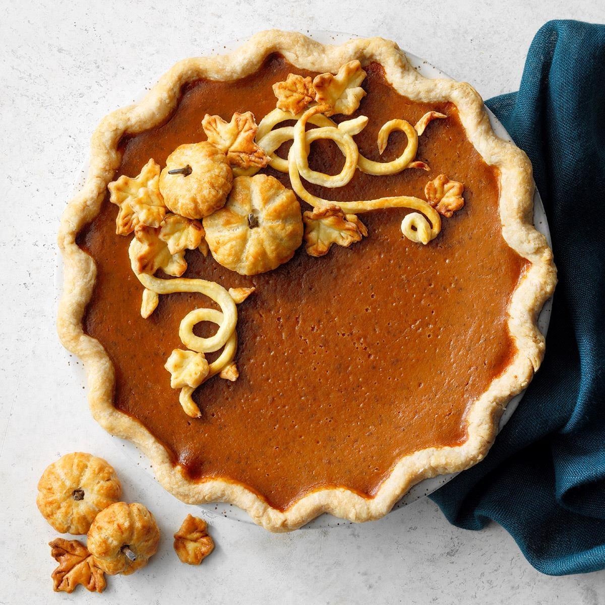 Traditional Pumpkin Pie Recipe Taste Of Home