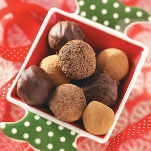Trio of Chocolate Truffles