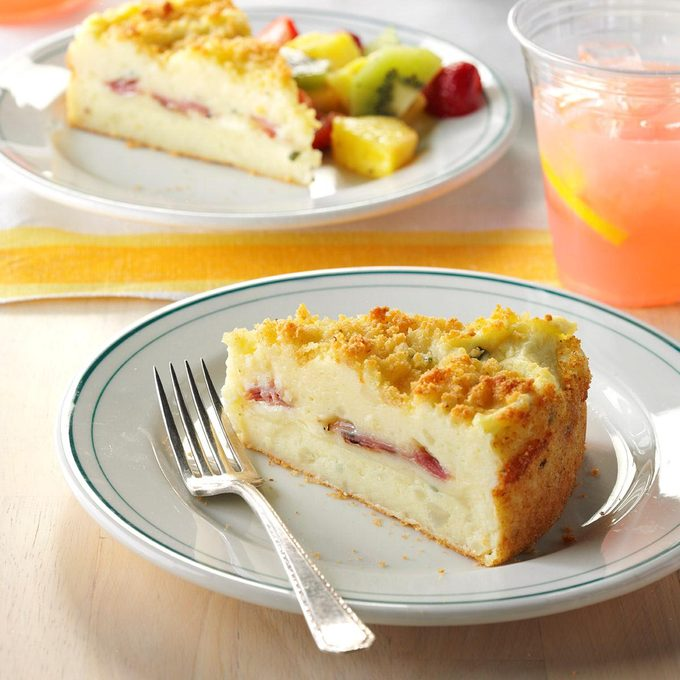 Triple Cheese Potato Cake with Ham