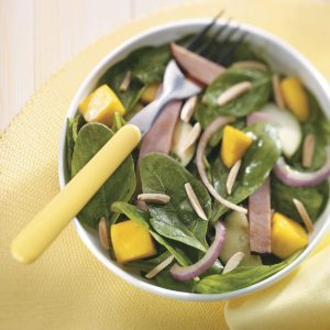 Tropical Spinach & Ham Salad