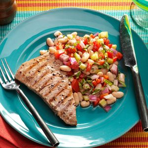 Tuna with Tuscan White Bean Salad