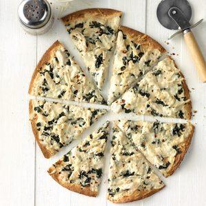 Turkey Alfredo Pizza