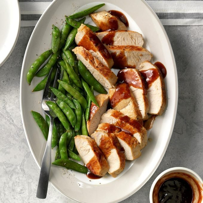 Turkey Breast Tenderloins with Raspberry Sauce