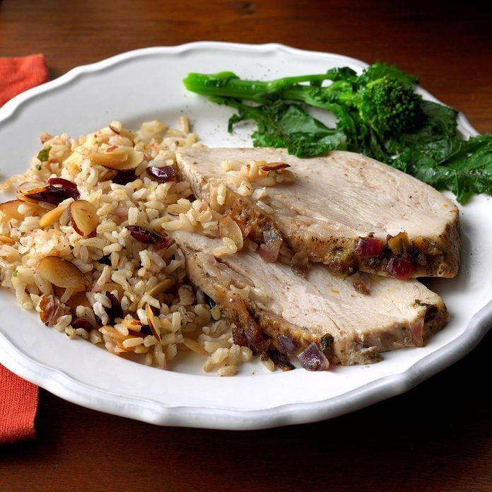 Turkey Breast with Cranberry Brown Rice